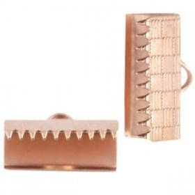 DQ metaal veterklem 15mm Rosé Goud (nikkelvrij)