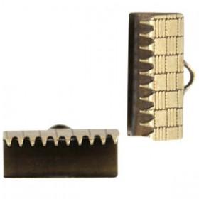 DQ metaal veterklem 15mm Antiek brons (nikkelvrij)