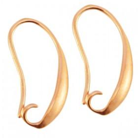 DQ metaal oorhanger Rosé goud (nikkelvrij)