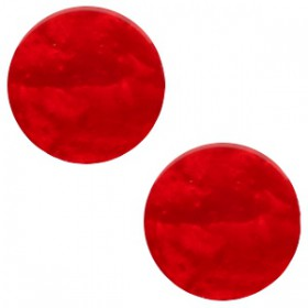 7 mm classic cabochon  Mosso shiny Scarlet red