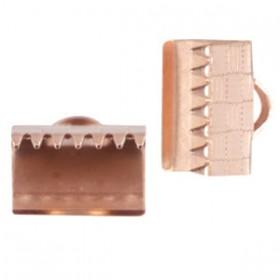 DQ metaal veterklem 10mm Rosé goud (nikkelvrij)