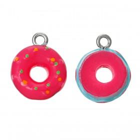 Resin Charm Roze donut