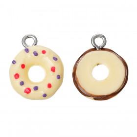 Resin Charm Beige donut