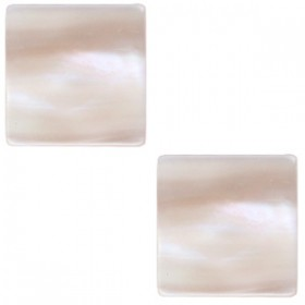 20mm platte vierkante cabochon Polaris Elements Beige