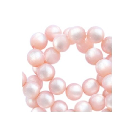 Super Polaris kralen rond 6mm Powder pink