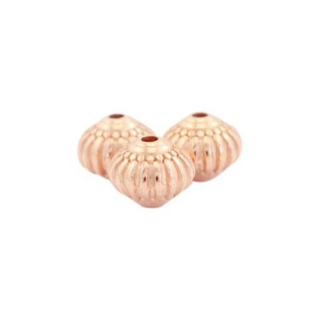 DQ Metalen kraal deco cone 8x7mm Rosé goud (nikkelvrij)