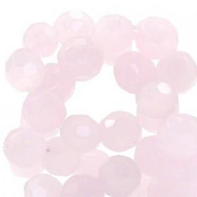 Tsjechische facetkraal 10mm Rose alabaster