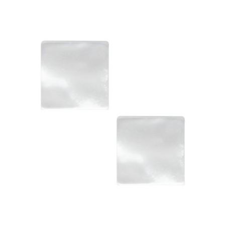 20mm platte vierkante cabochon Polaris Elements Perseo White
