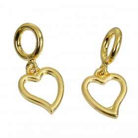 Charms Pendants hart Gold Plated