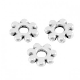 DQ spacer Bali ring 5.6mm Antiek zilver