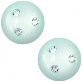 cabochon 12mm Super Polaris 3 Swarovski steentjes Light aqua green