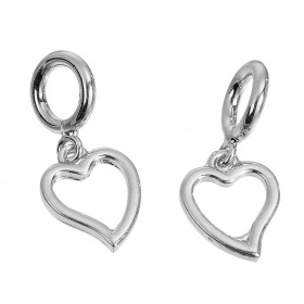 Charm Pendant hart Silver Plated