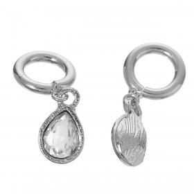 Lovabi Pendant druppel Silver Plated met rhinestone