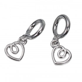 Charms Pendant hartje Silver Plated