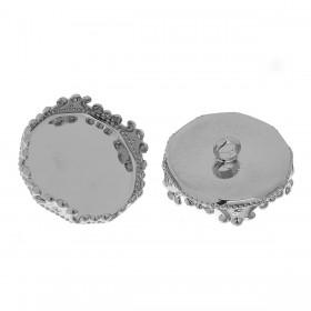 Dekseltje met oog voor glazen flesje Rond 26mm x 25mm zilver plated