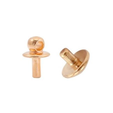 Eindkapjes  DQ metaal voor kralen met rijggat tot Ø1.9mm Rosé goud (nikkelvrij)
