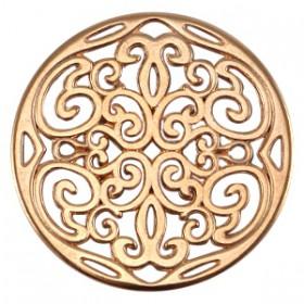 DQ tussenstuk ornament hanger 31mm Rosé goud (nikkelvrij)