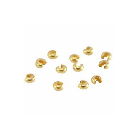 DQ Knijpkraalbedekkers  4mm goud