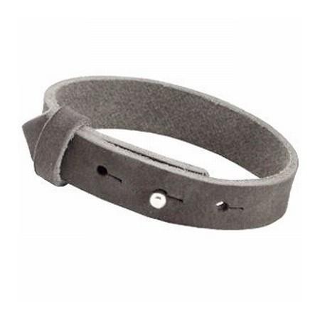 Cuoio armbanden leer 15 mm voor 20 mm cabochon Dark Grey