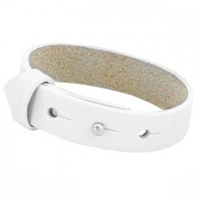 Cuoio armbanden leer 15 mm voor 20 mm cabochon Bright white