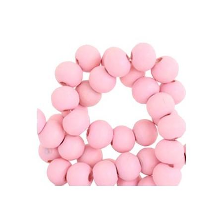 Houten Kralen Rond 8mm Bright pink