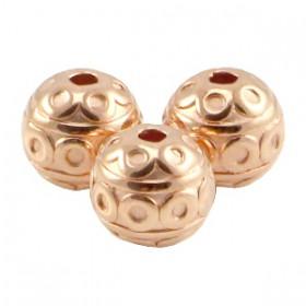 DQ Metalen kraal deco 8mm Rosé goud (nikkelvrij)