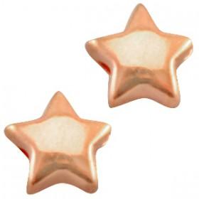 DQ metaal ster 6 mm Rosé goud ( nikkelvrij )