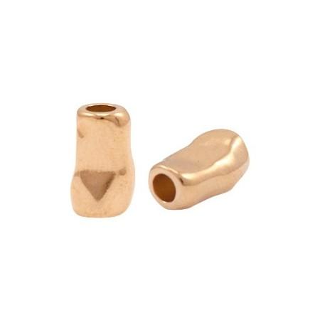 Kralen DQ metaal tube 11x7mm Rosé goud (nikkelvrij)