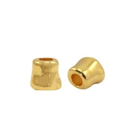 Kralen DQ metaal tube 7x7mm Goud (nikkelvrij)