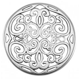 DQ metalen ornament hanger 31mm Antiek zilver (nikkelvrij)