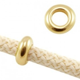 DQ metaal ring voor 5 mm koord Goud