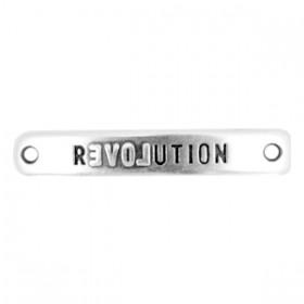 Bedels DQ metaal tussenstuk bar Revolution Antiek zilver (nikkelvrij)