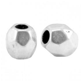 DQ metaal facet kraal Antiek zilver (nikkelvrij)