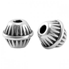 DQ metaal kraal cone ball Antiek zilver (nikkelvrij)