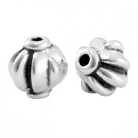 DQ metaal kraal 8mm Antiek zilver (nikkelvrij)