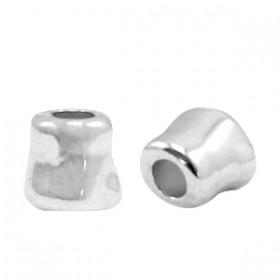 Kralen DQ metaal tube 7x7mm Antiek zilver (nikkelvrij)