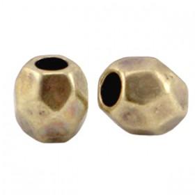 DQ metaal facet kraal Antiek brons (nikkelvrij)