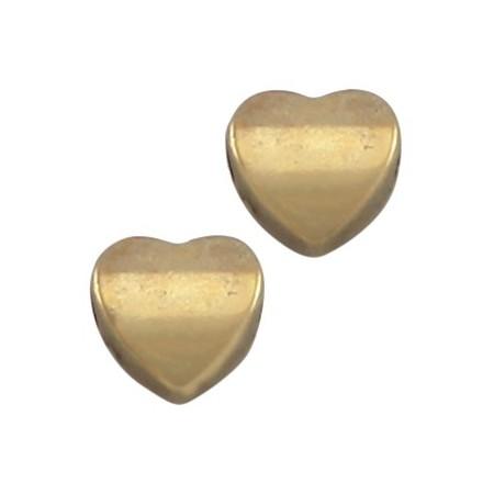 DQ metaal hart 8 mm Antiek Brons (nikkelvrij)
