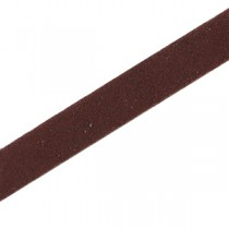 DQ leer suède plat 10mm Donker bruin