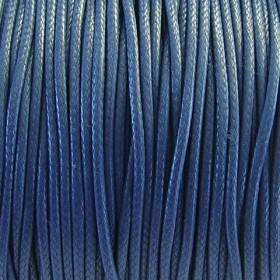 Nylon waxkoord 1mm crimson blauw