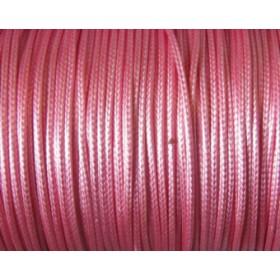 Nylon waxkoord 1mm roze