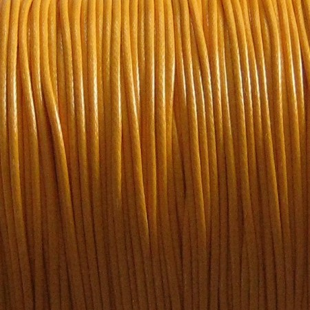 Nylon waxkoord 1mm oranjegeel