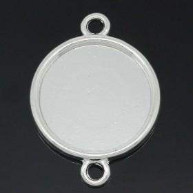 Basic setting voor cabochon 20mm zilverkleur