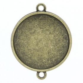 Basic setting voor cabochon 25mm bronskleur