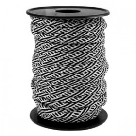Paracord 4mm Zwart-wit