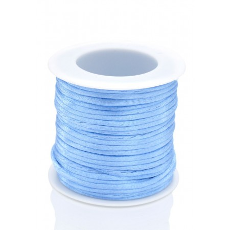 Satijnkoord 2mm Licht saffierblauw