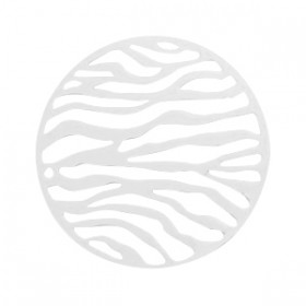 Hanger bohemian rond met oog 31mm Silver