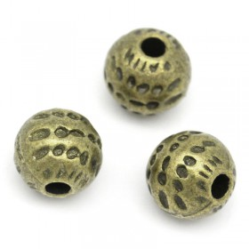 Metalen spacer antiek brons Dots 6mm