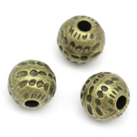 Metalen spacer antiek brons Dots 6mm