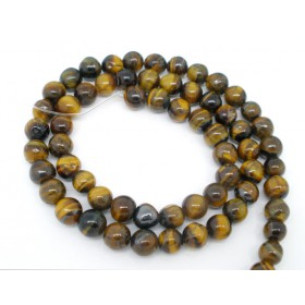 Tiger's eye kralen rond 6mm Dark Brown